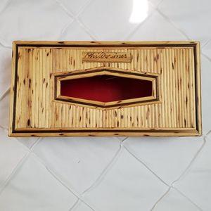 Handmade bamboo tissue box